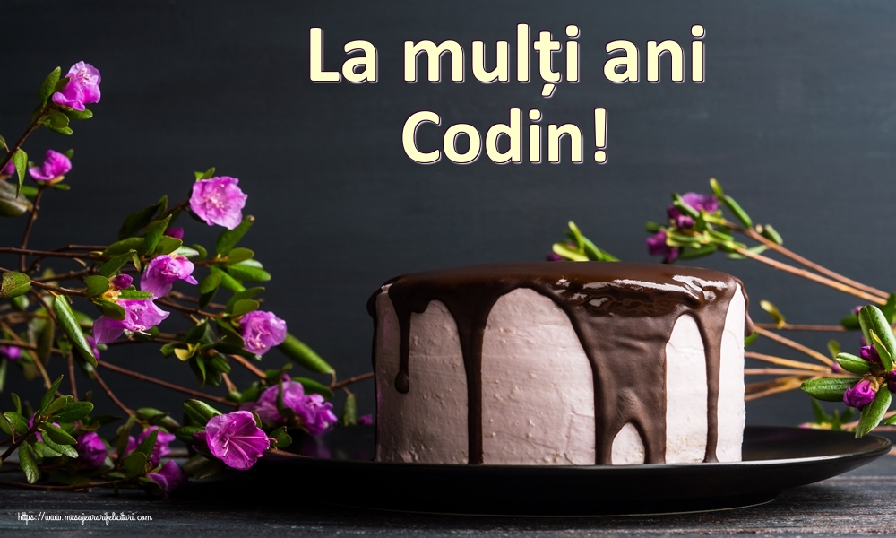 Felicitari de zi de nastere   La mulți ani Codin!