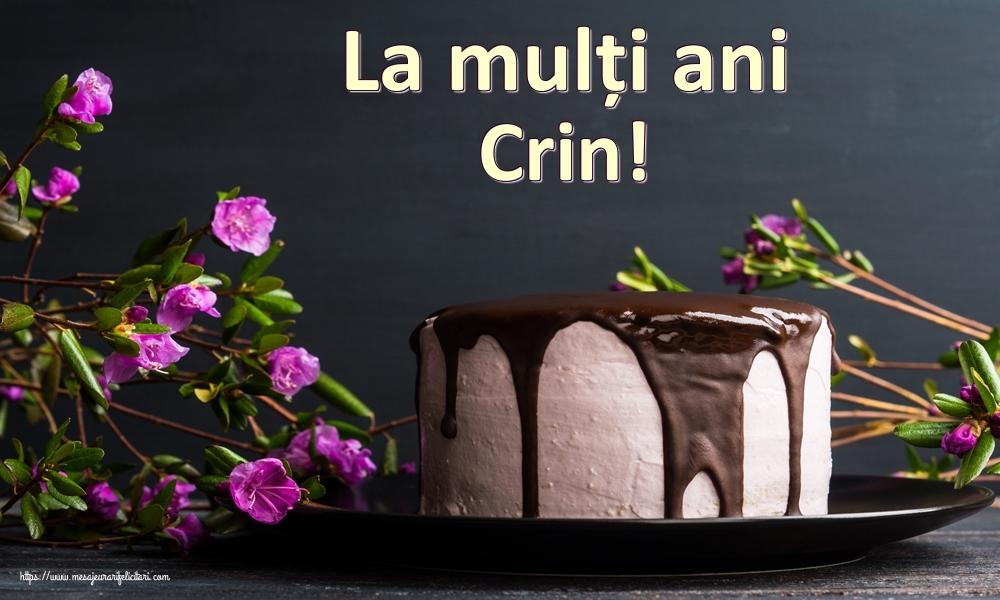 Felicitari de zi de nastere | La mulți ani Crin!