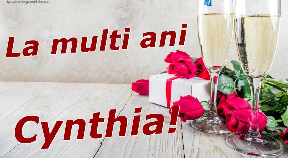 Felicitari de zi de nastere   La multi ani Cynthia!
