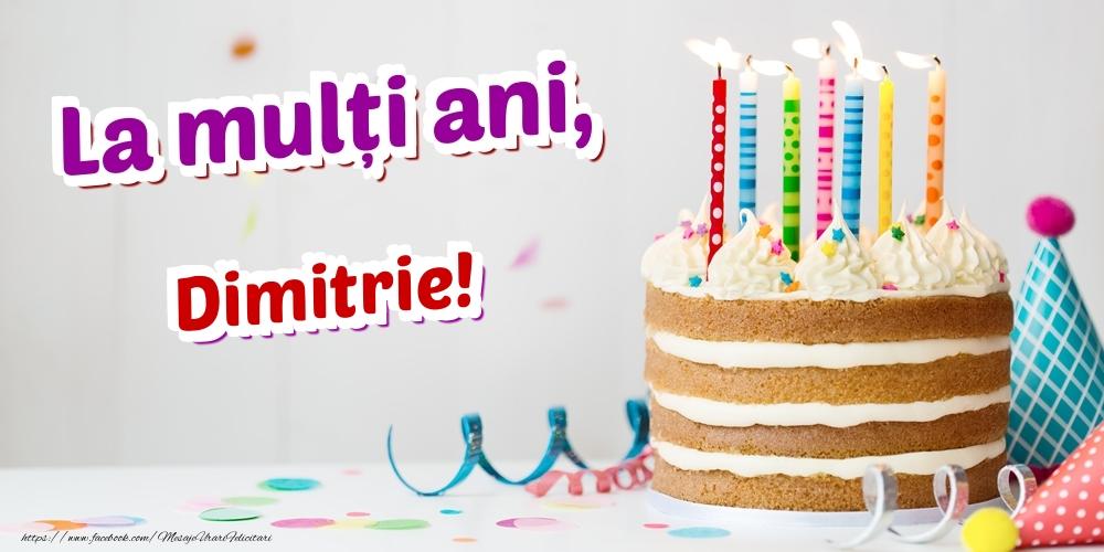 Felicitari de zi de nastere   La mulți ani, Dimitrie
