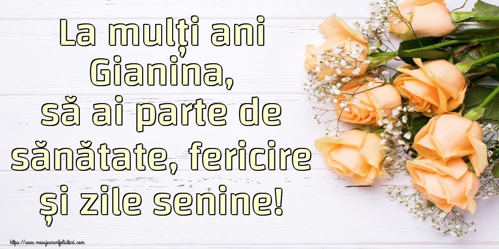 Felicitari de zi de nastere | La mulți ani Gianina, să ai parte de sănătate, fericire și zile senine!