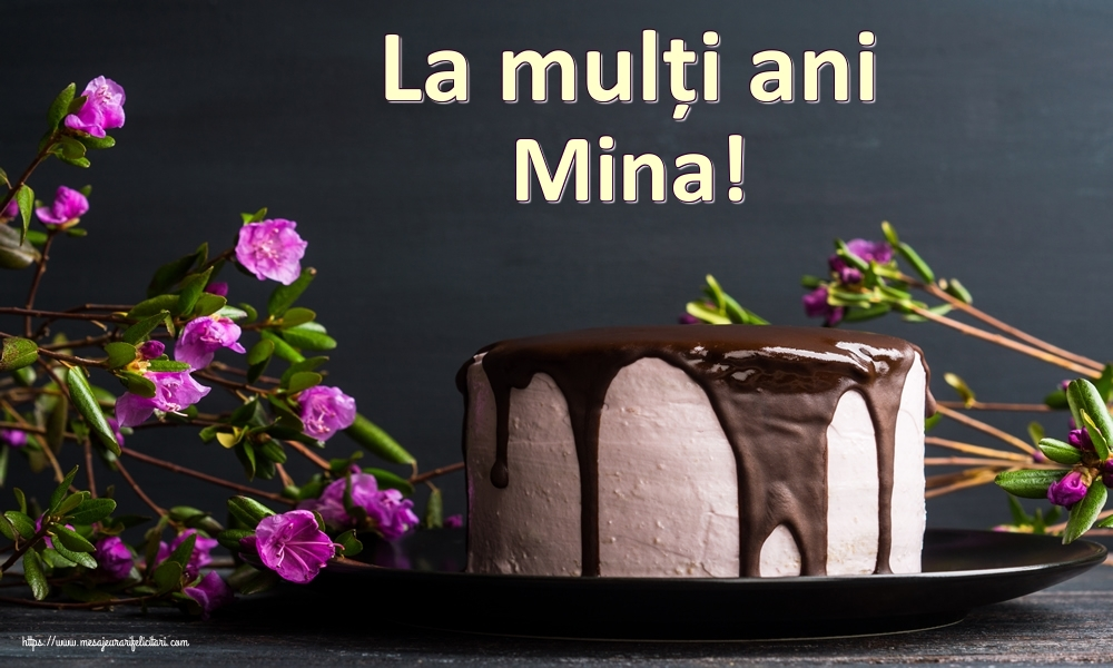 Felicitari de zi de nastere   La mulți ani Mina!