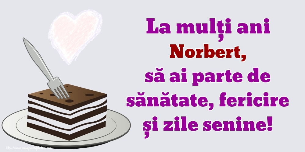 Felicitari de zi de nastere | La mulți ani Norbert, să ai parte de sănătate, fericire și zile senine!