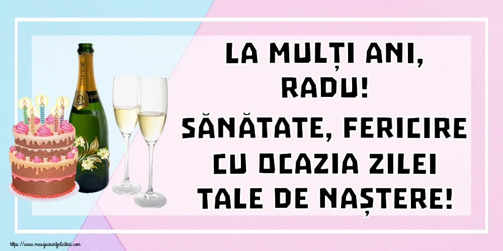 Felicitari de zi de nastere   La mulți ani, Radu! Sănătate, fericire cu ocazia zilei tale de naștere!