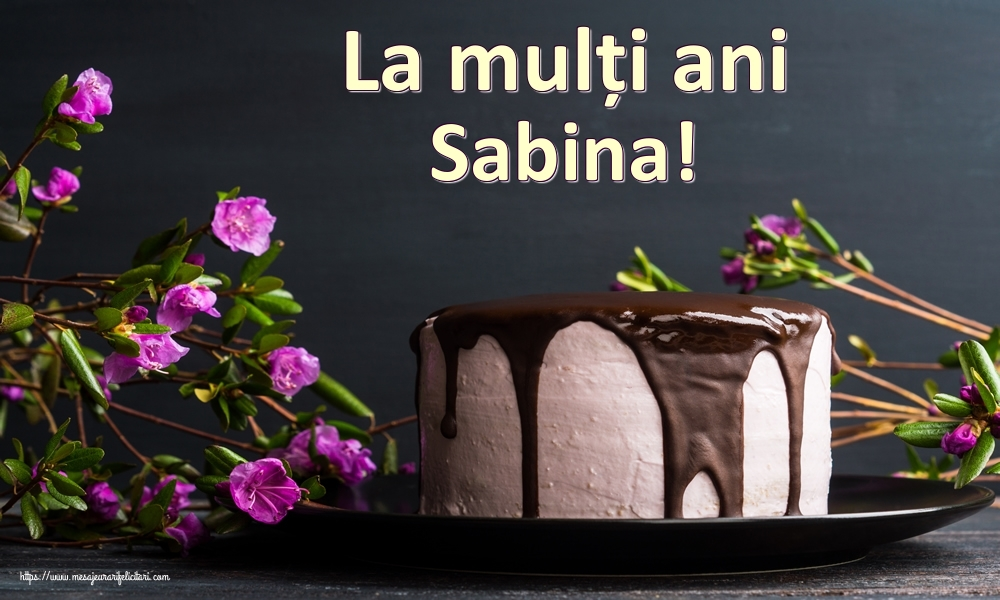 Felicitari de zi de nastere | La mulți ani Sabina!