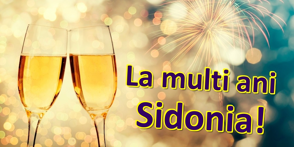 Felicitari de zi de nastere   La multi ani Sidonia!