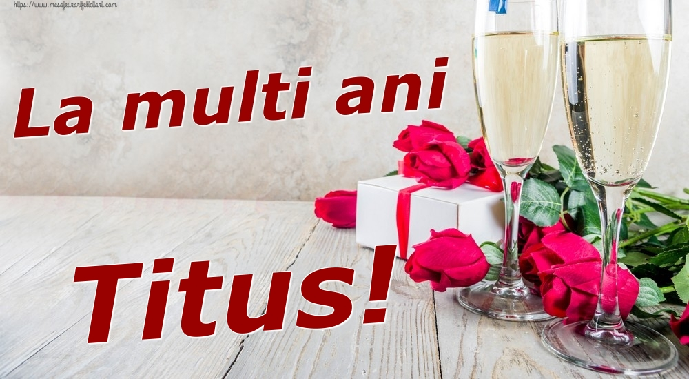 Felicitari de zi de nastere | La multi ani Titus!