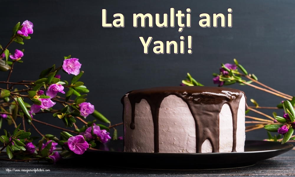 Felicitari de zi de nastere | La mulți ani Yani!