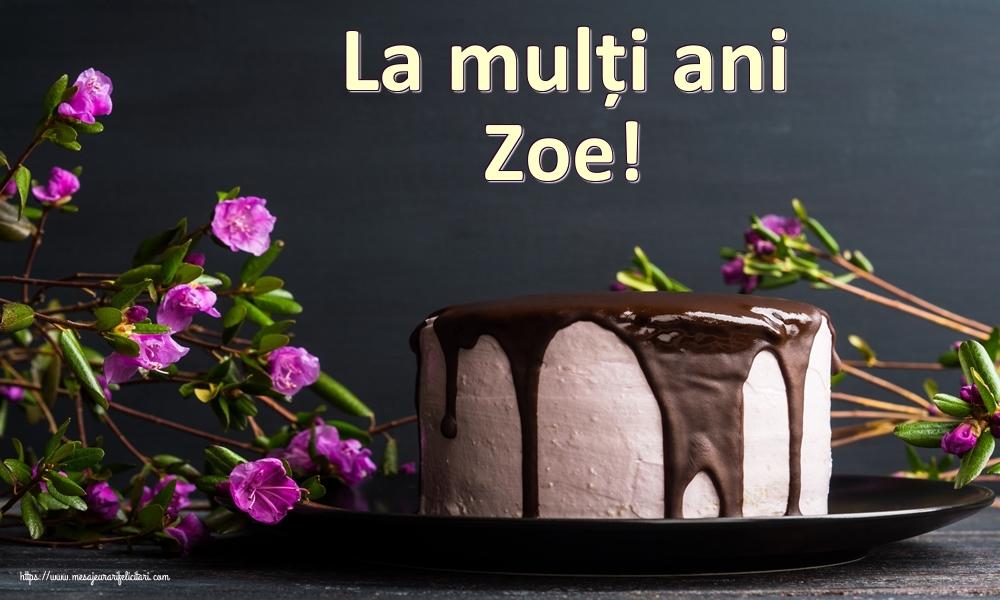 Felicitari de zi de nastere | La mulți ani Zoe!